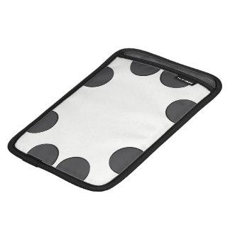 Checkered DarkGrey Dots iPad Mini Sleeve