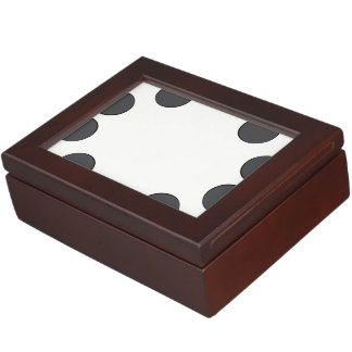 Checkered DarkGrey Dots Keepsake Box