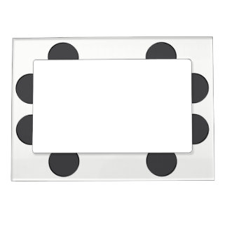 Checkered DarkGrey Dots Magnetic Frame