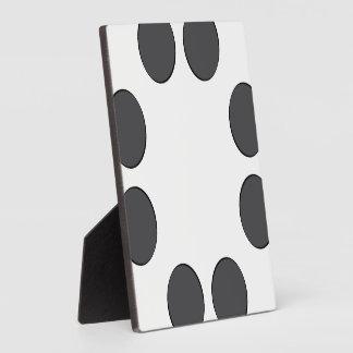 Checkered DarkGrey Dots Plaque