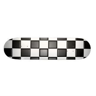 Checkered deck custom skate board