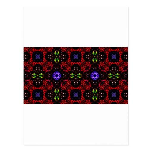 Checkered design Kaleidoscope Post Card
