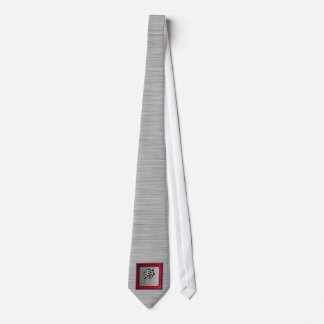 Checkered Flag; brushed aluminum look Tie