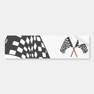 checkered flag bumper sticker
