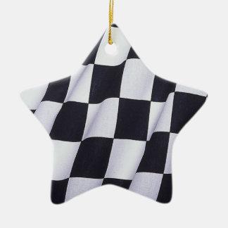 Checkered flag christmas ornament