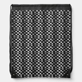 Checkered Flag Drawstring Backpack