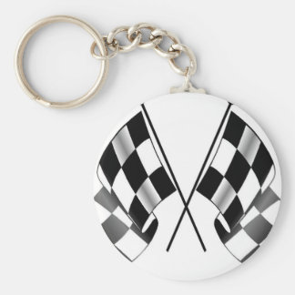 checkered flag key ring