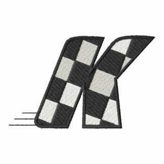 Checkered Flag Letter K Embroidered Polo Shirts