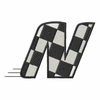 Checkered Flag Letter N