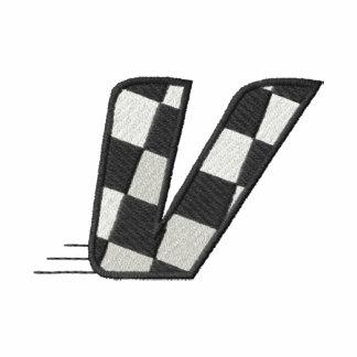 Checkered Flag Letter V