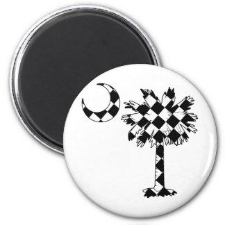 Checkered Flag Palmetto Magnet