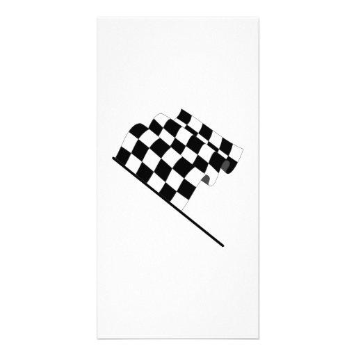 Checkered Flag Photo Card
