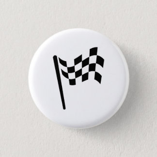 Checkered Flag Pictogram Button
