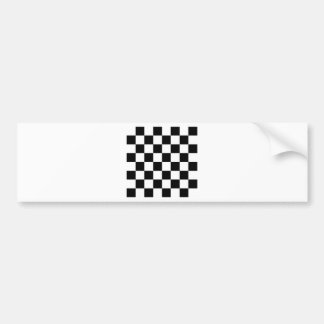 Checkered Flag Racing Chess Checkers Chessboard Bumper Sticker