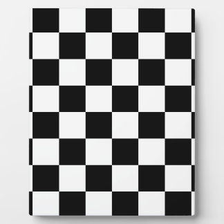 Checkered Flag Racing Chess Checkers Chessboard Plaque
