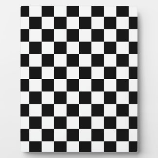 Checkered Flag Racing Design Chess Checkers Board Plaque