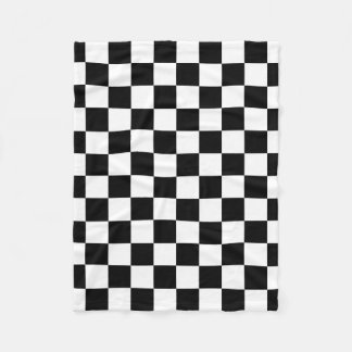 Checkered Flag Racing Pattern Fleece Blanket