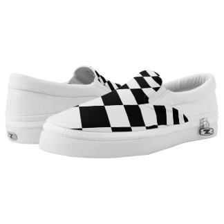 Checkered Flag Racing Slip-on Shoes
