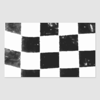 Checkered Flag Rectangular Sticker