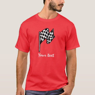 Checkered Flag; red T-Shirt