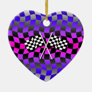 checkered flags christmas ornament