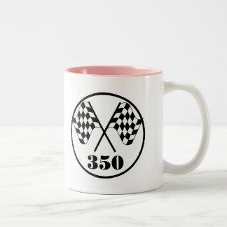 Checkered Flags Two-Tone Coffee Mug