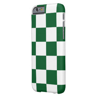 Checkered Green and White iPhone 6 Case