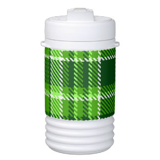 Checkered Green Color Pattern Cooler