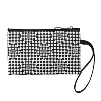 Checkered Illusion by Kenneth Yoncich Change Purses