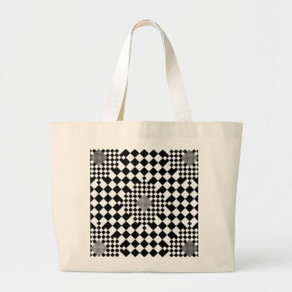 Checkered Illusion by Kenneth Yoncich Jumbo Tote Bag
