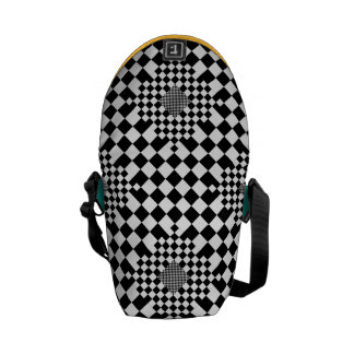 Checkered Illusion by Kenneth Yoncich Messenger Bag