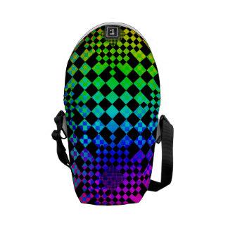 Checkered Illusion Messenger Bag