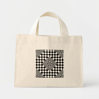 Checkered Illusion Tiny Tote Tote Bag