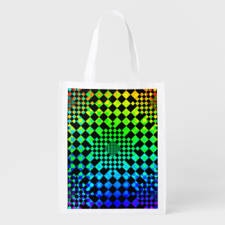 Checkered Illusion Reusable Grocery Bags