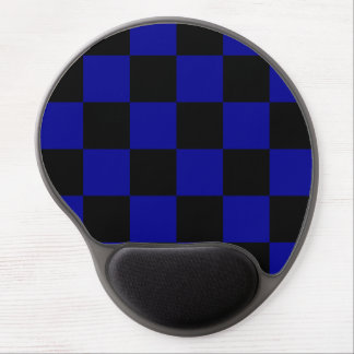 Checkered Large - Black and Dark Blue Gel Mouse Mats