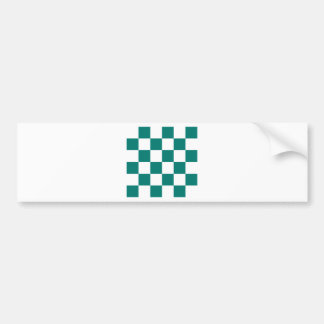 Checkered Large - White and Pine Green Bumper Sticker