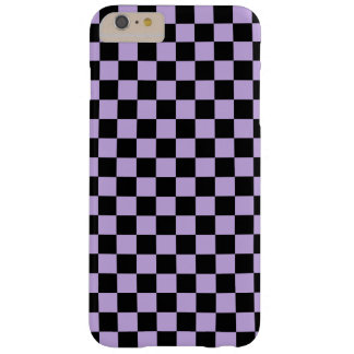 Checkered Lavender and Black Barely There iPhone 6 Plus Case