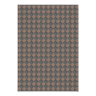Checkered Leather Card