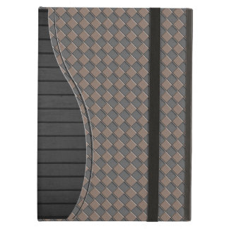 Checkered Leather Case For iPad Air