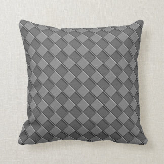Checkered Leather Cushion