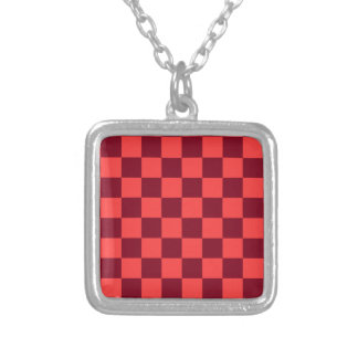 Checkered - Light Red and Dark Red Pendant
