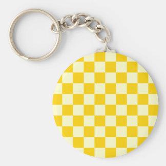 Checkered - Light Yellow and Dark Yellow Keychains