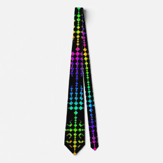 Checkered Moire Tie
