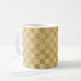 Checkered Pale Gold Mug