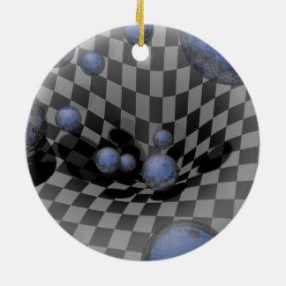 Checkered Past 8 Round Ceramic Decoration
