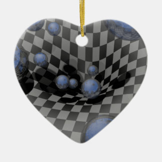 Checkered Past #A Ceramic Heart Decoration
