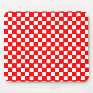 checkered pattern red マウスパッド