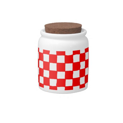 checkered pattern (red) Candy Jar