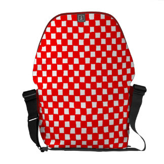 checkered pattern (red) commuter bag
