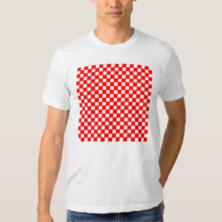 checkered pattern (red) tee shirts